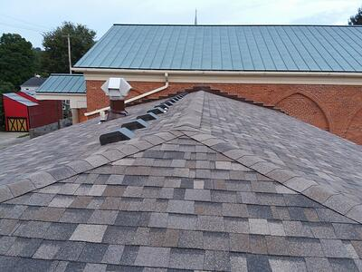 Duration Shingle Roof Replacement First Christian Church