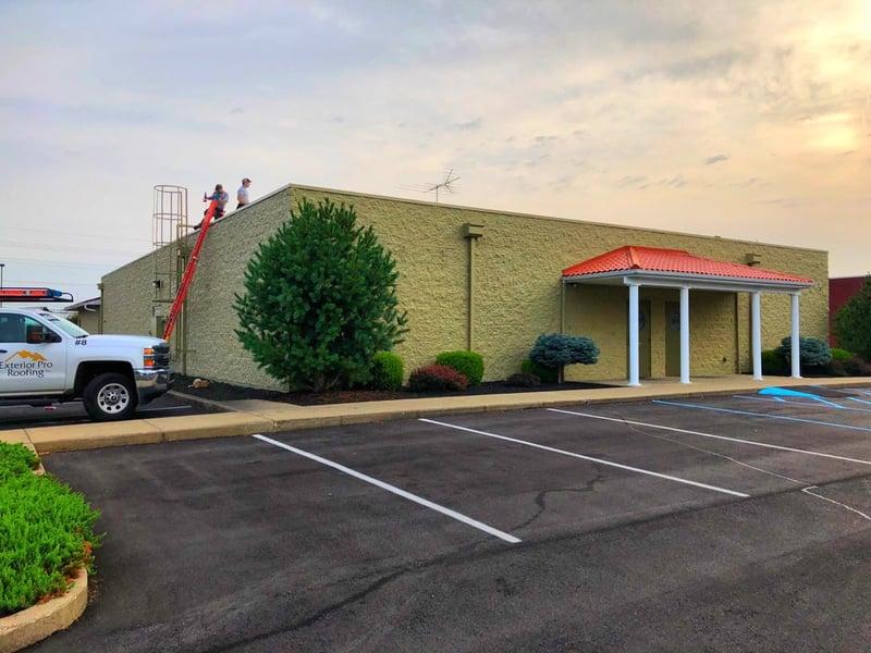 Flat Roof Repair Custom Coping-Madison
