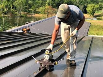 Standing Seam Metal Roof  Batten Cap Sealing- Carrollton