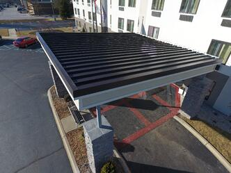 Standing Seam Metal Roof Installation Finished-Canopy