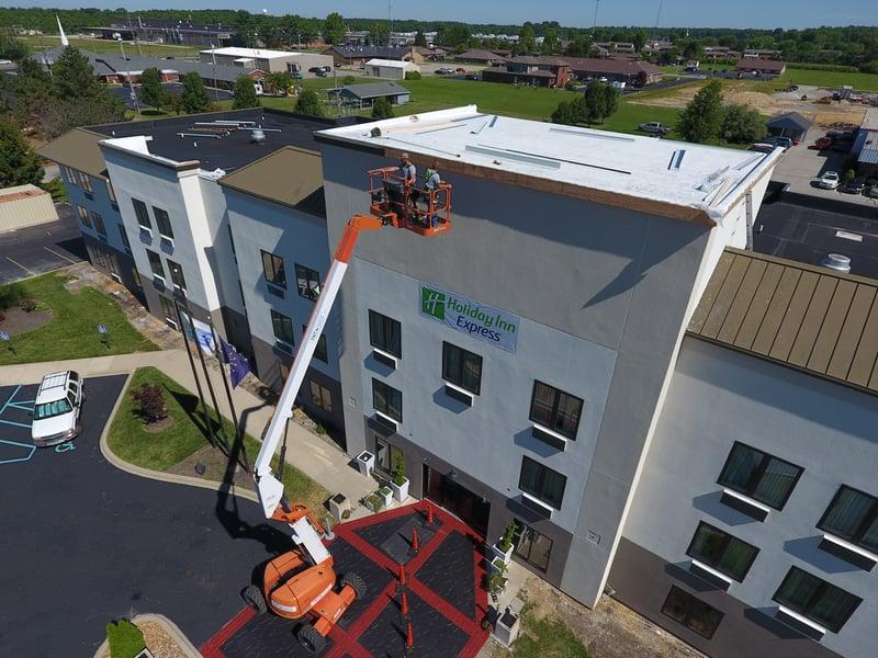 Custom Coping Installation Flat Roof- HolidayInn.jpg