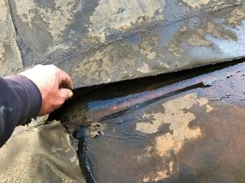 Rubber Roof Damage Repair- IKE