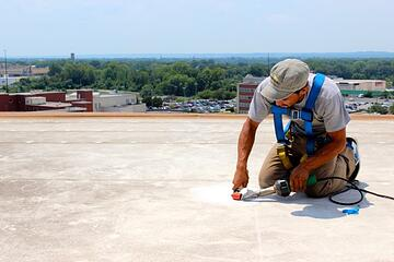 Patching Flat roof repair