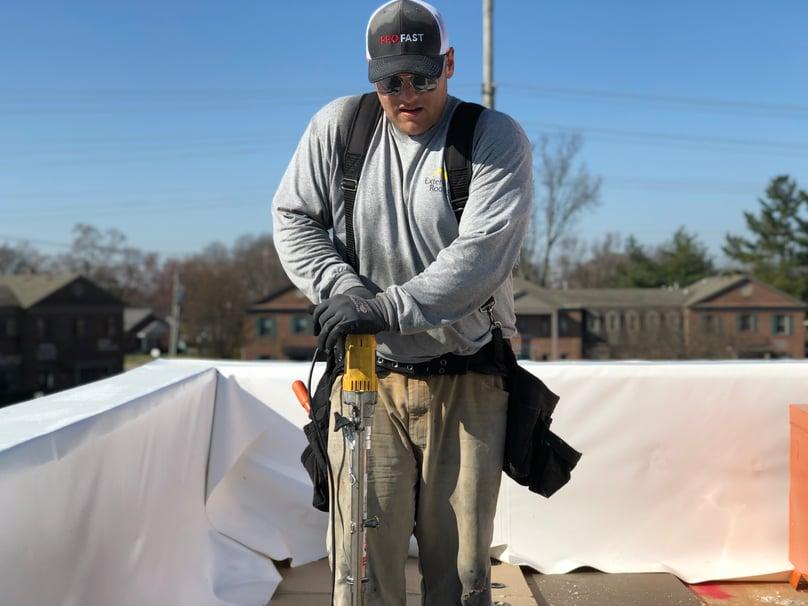 Flat Roof Insulation Installation- Louisville