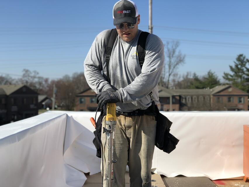 Flat Roof Insulation Installation- Louisville