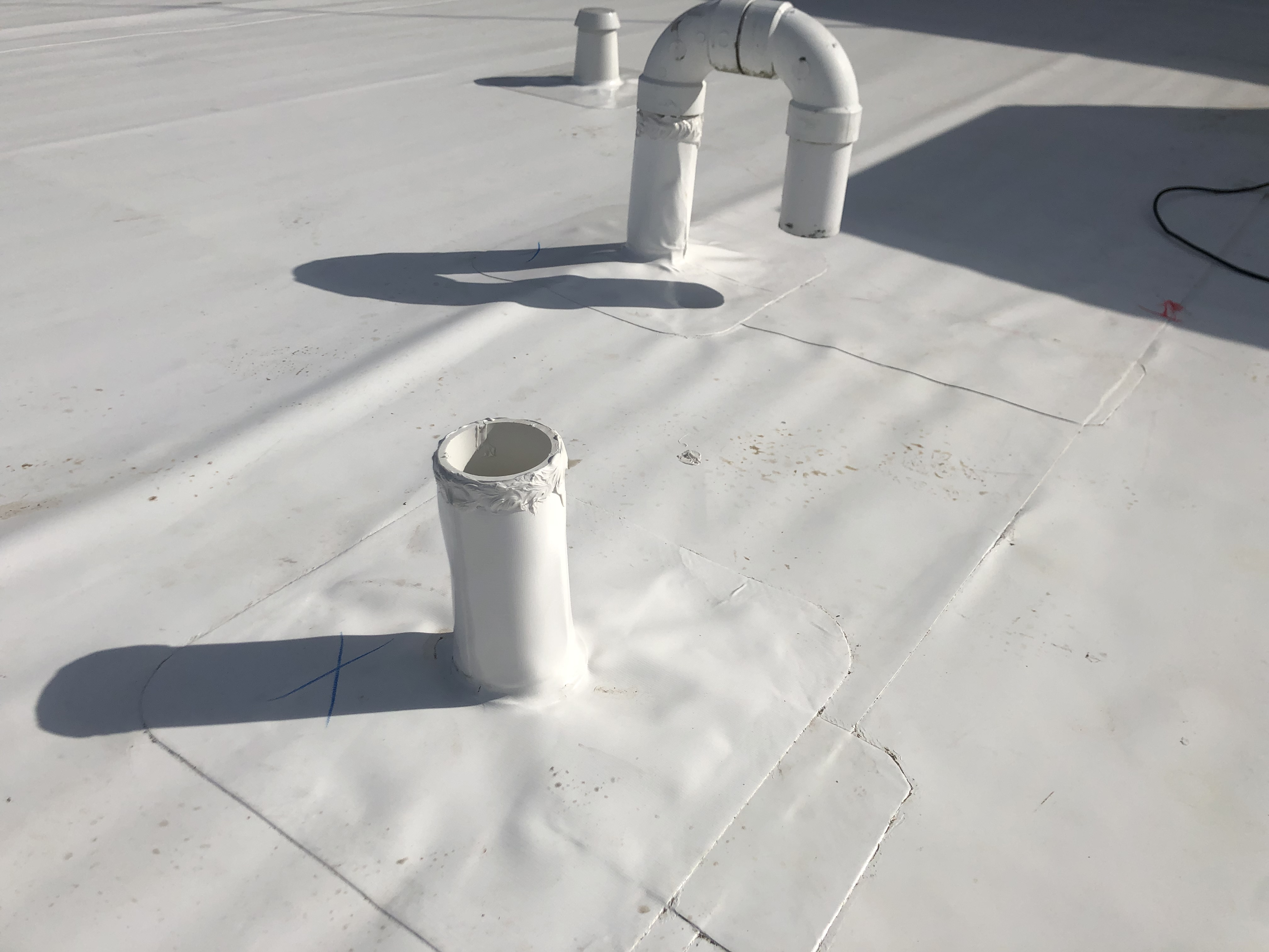 Flat Roof Membrane Roof Vents Welding- Lexington
