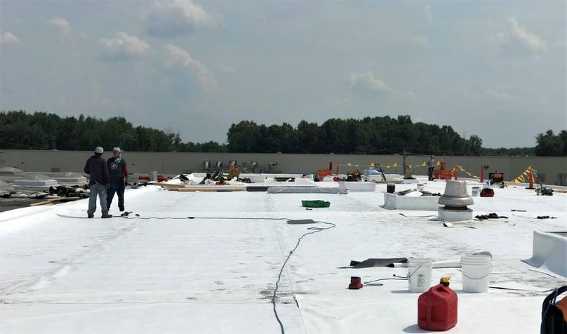 Flat Roof Repair TPO Membrane Overview-Warehouse