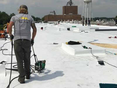 Flat Roof Repair TPO Membrane Walker Welder 1 -Warehouse