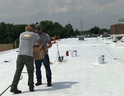 Flat Roof Repair TPO Membrane Welding Overview-Warehouse