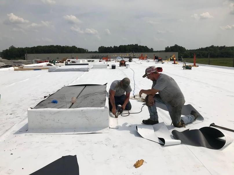 Flat Roof Repair TPO Membrane Welding Teaching-Warehouse-1