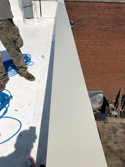 Flat Roof Duro-Last Repair Metal Coping Installation-Madison