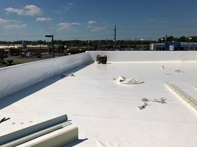 Flat Roof Duro-Last Repair Progress-Madison