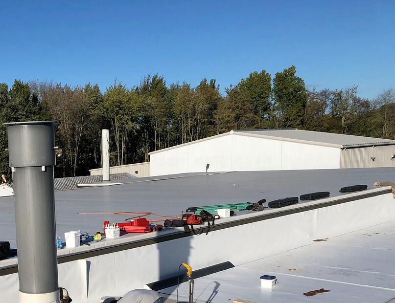 Flat Roof Commercial Guttering- Madison