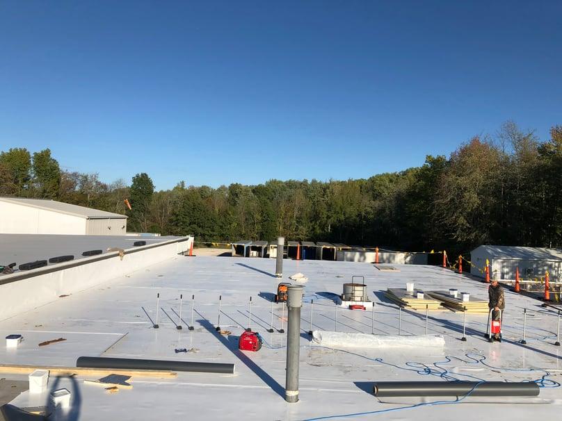 Flat Roof Membrane TPO Rhinobond- Madison