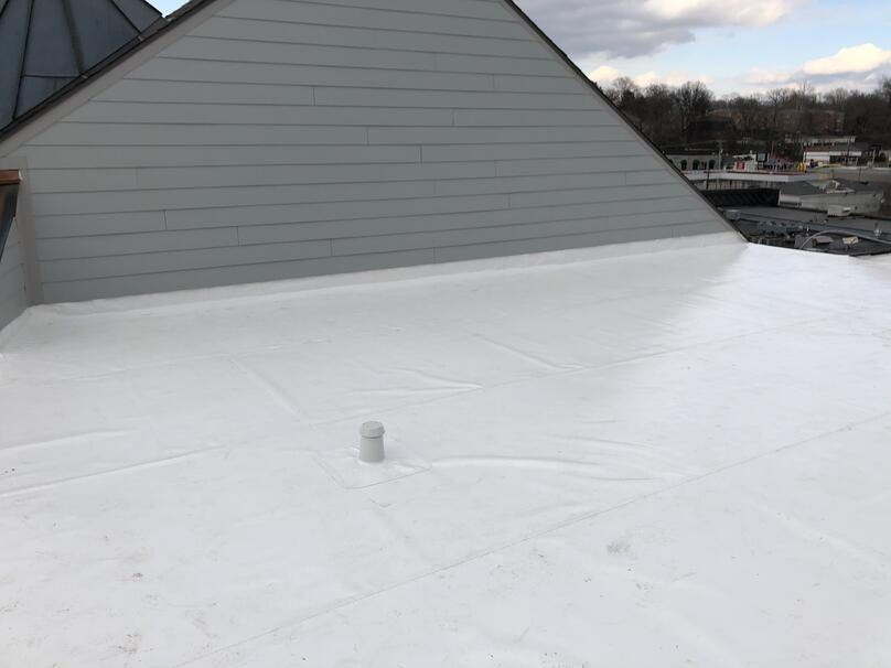 Flat Roof PVC Membrane Parapet Walls-Louisville