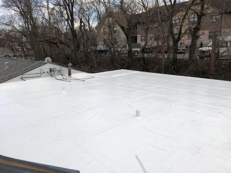 Flat Roof Recover Installation-Louisville