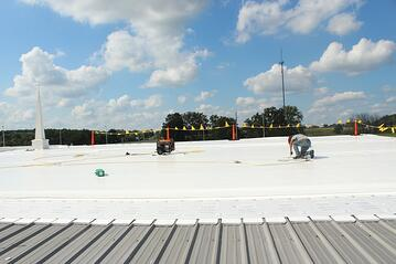 Point of Grace flat roof repair