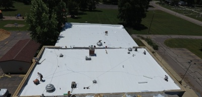 Flat Roof & Metal Coping Installation-Pope John-680274-edited