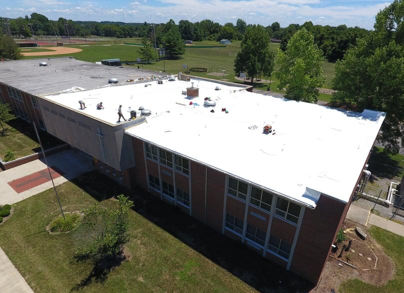 Flat Roof PVC Membrane Installation School-Pope John