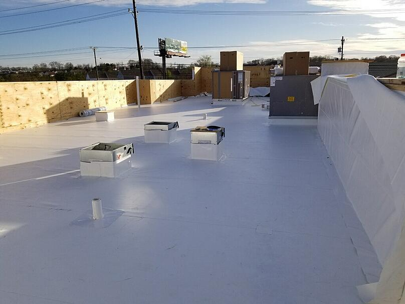 Flat Roof Repair PVC Membrane Installation-Antioch