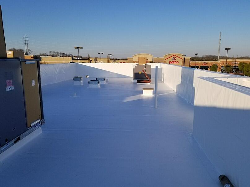 Flat Roof Repair PVC Membrane Recover-Antioch
