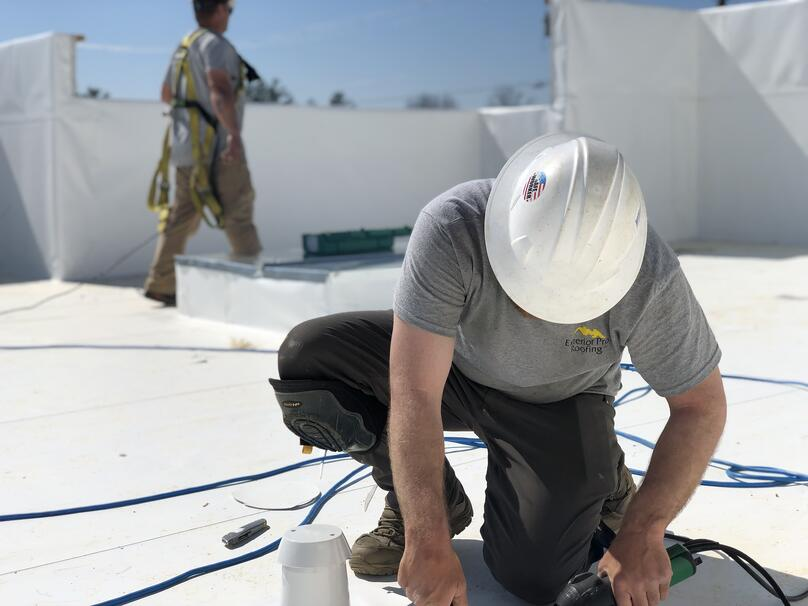 Flat Roof PVC Membrane Welding- Salem