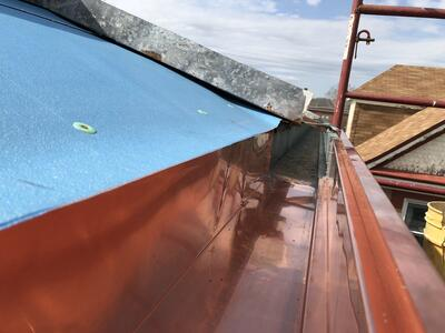 Commercial Guttering Repair Copper Close Up-PrinceofPeace