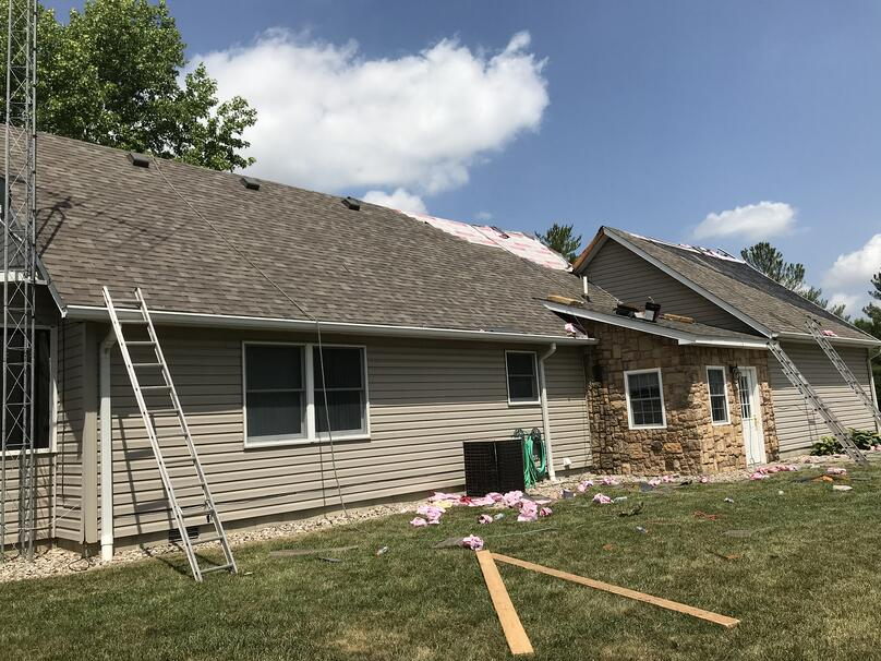 Shingle Roofing Repair Dimensional Shingle Installation-Madison