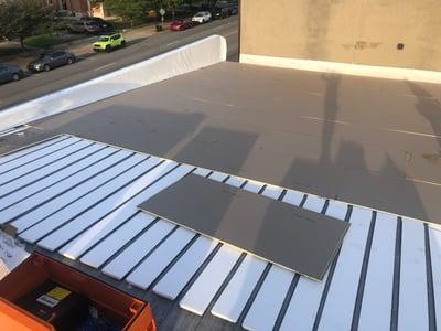 Flat Roof Repair Roof Insulation Installation Progress-Salvation Army