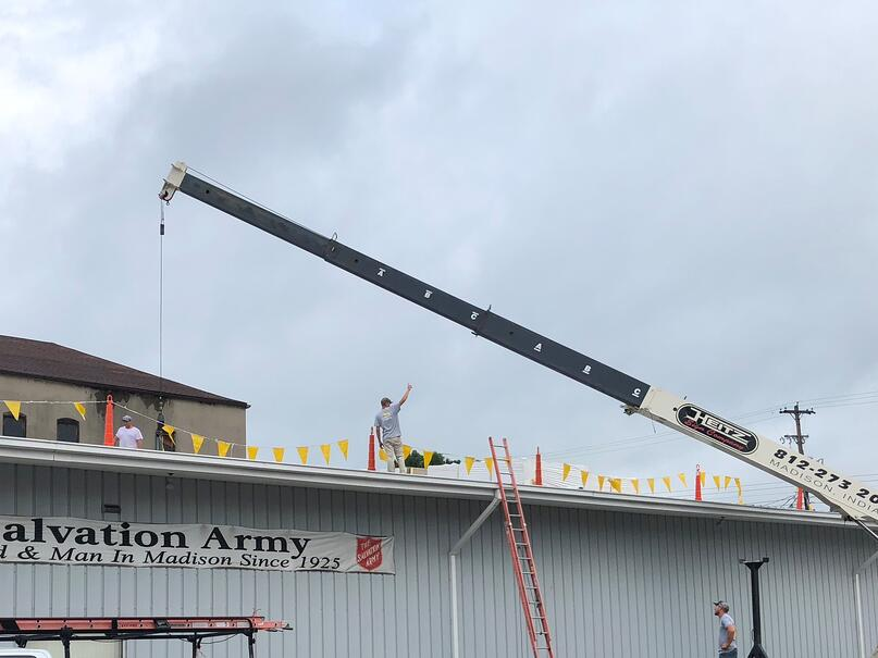 Flat Roof Repair Roof Insulation Loading-Salvation Army