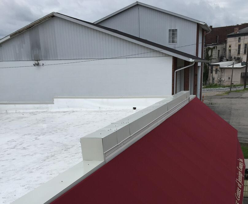 Metal Coping Installation Parapet Walls Flat Roof Repair-North Vernon