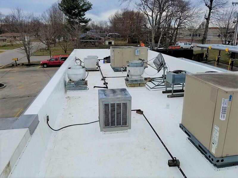 Flat Roof Membrane Installation Pipe and Vent Work-Burea