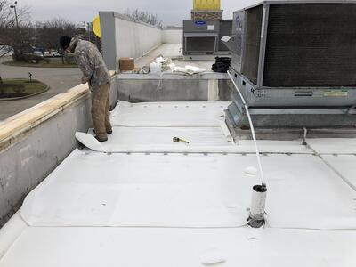 Flat Roof Membrane Installation Metal Coping-Lexington