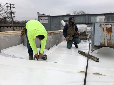 Flat Roof Membrane Installation Rhinobond-Lexington