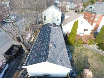 Designer Shingle Roof Installation Progress-Madison