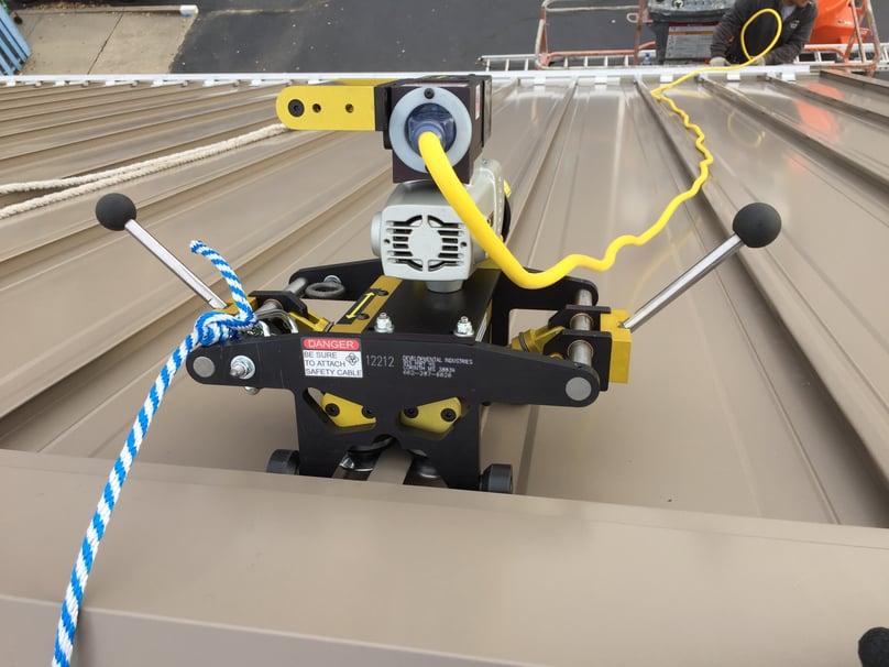 Standing Seam Metal Installation Progress Tools- Madison