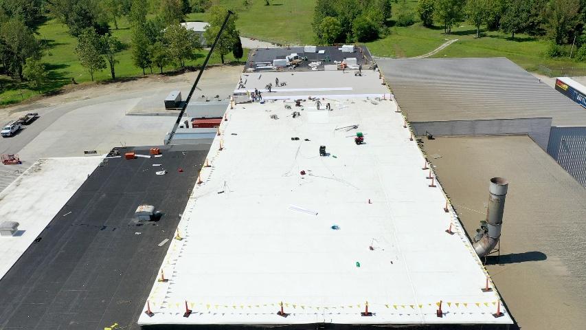 Wharehouse PVC membrane roof-1