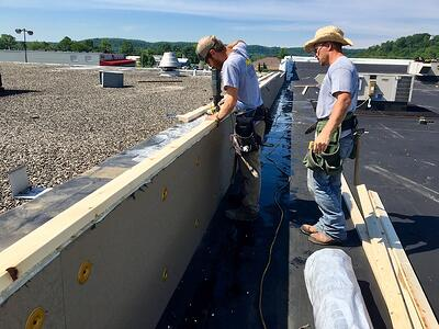 Commercial Flat Roof Repair For Va Center In Carrollton Ky