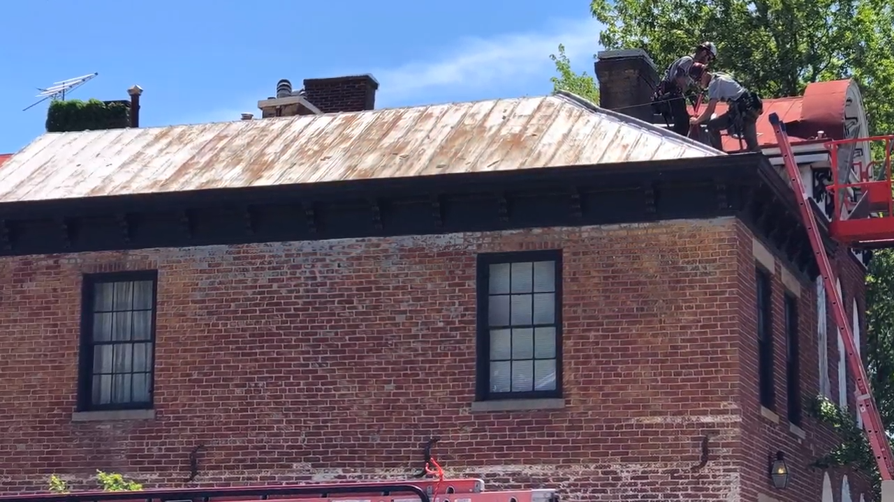 Standing Seam Metal Roof removal