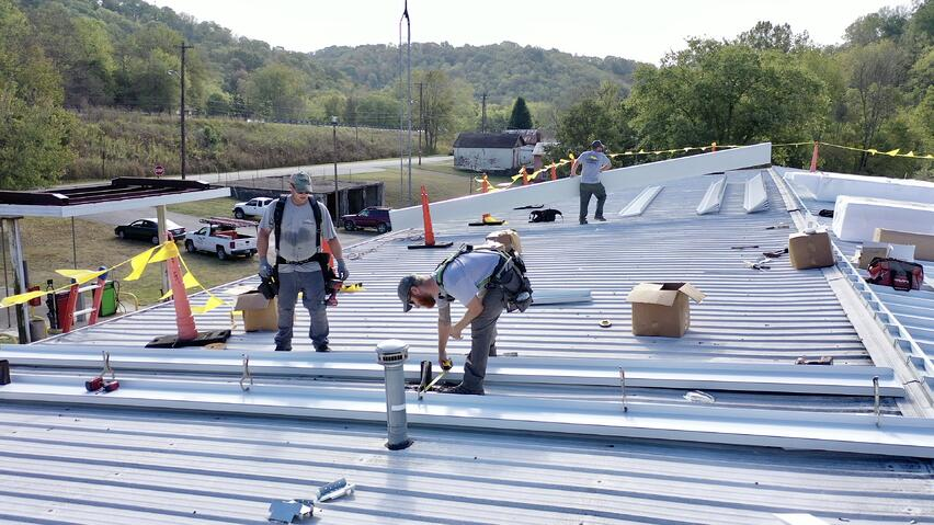 Standing Seam Metal Roof 238t Metal Over Metal City Of Madison Indiana