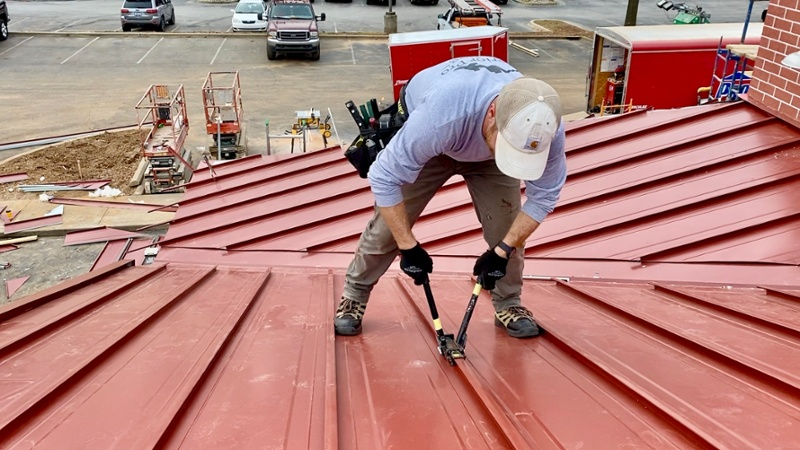 Standing Seam Metal Roof Seam Caps-1