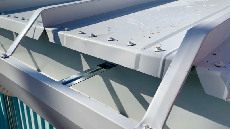 138 T Standing Seam Metal Roofing - Seam Cap To Heavy Duty Gutter Strap